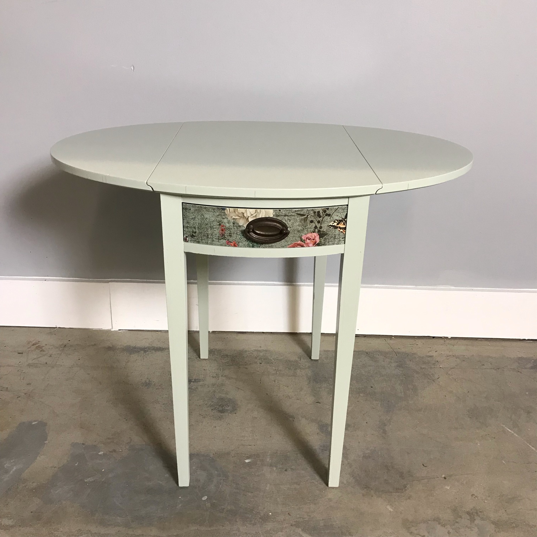 Upcycled Drop Leaf Side Table